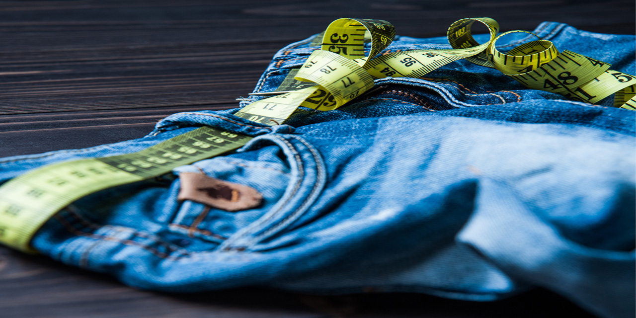pic of jeans with a measuring tape
