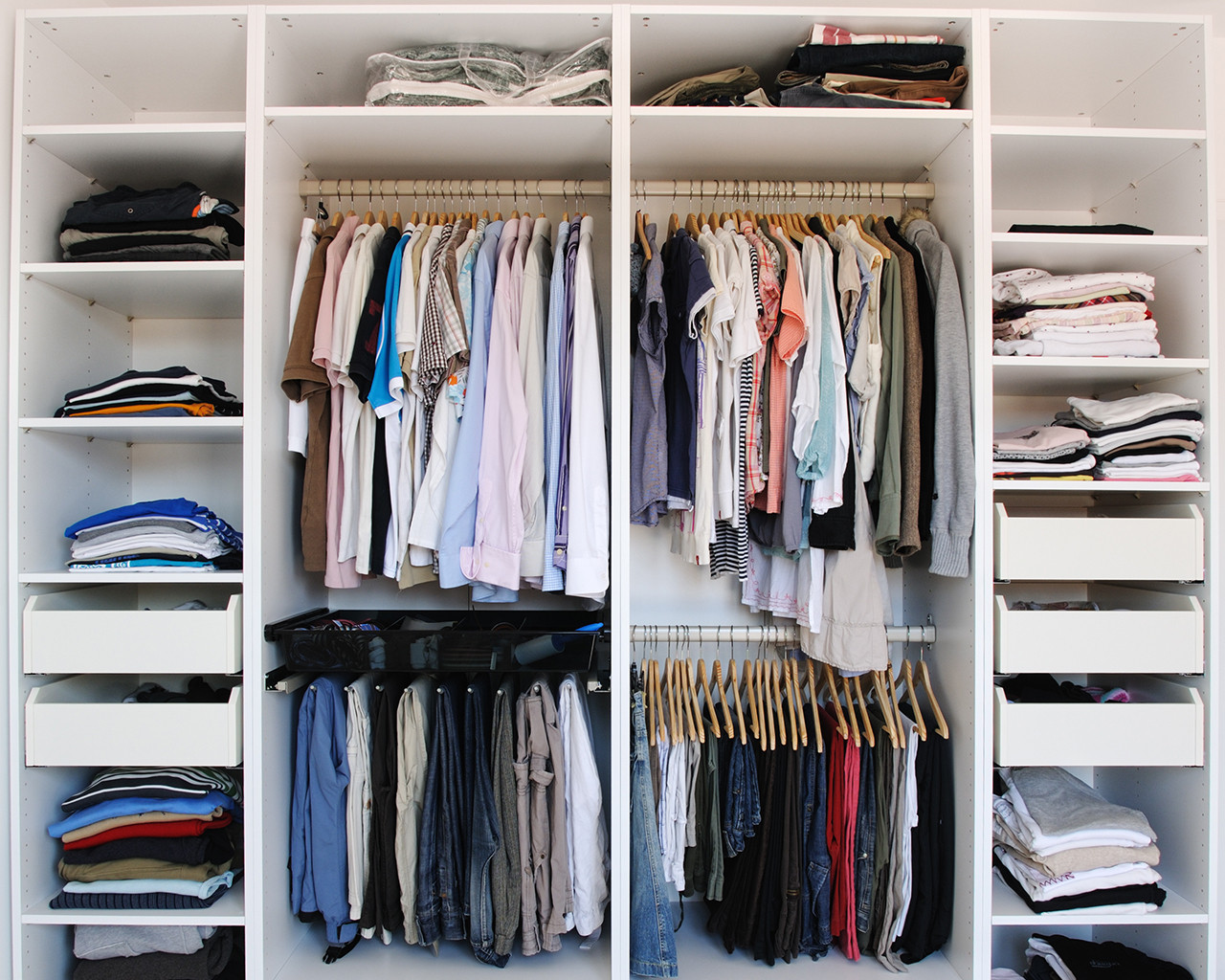 organised wardrobe preview