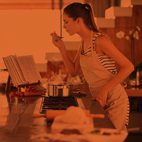 pic of girl cooking