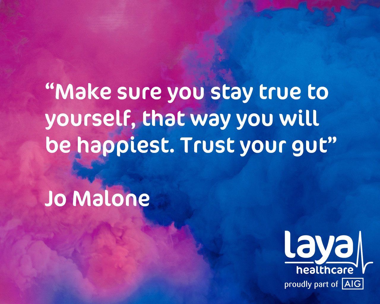 quote from jo malone saying to trust your gut